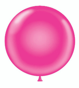 "36"" Tuf Tex  Hot Pink Round Latex Helium Balloon 1ct #3629"