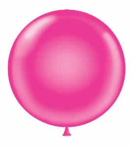 """36"""" Tuf Tex  Hot Pink Round Latex Helium Balloon 1ct #3629"""