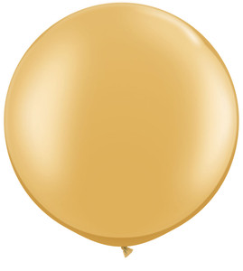 "36"" Gold Round Latex Balloon 1ct #3631"