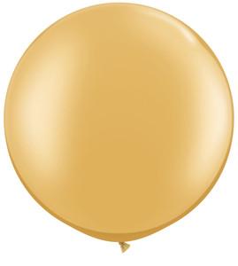 "36"" Tuf Tex Metallic Gold Round Latex Balloon 1ct #3631"