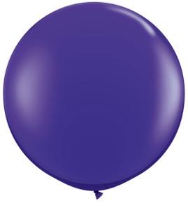 "36"" Tuf Tex Purple Round Latex Balloon 1ct #3617"
