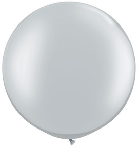 "36"" Silver Round Latex Balloons 1ct #3632"