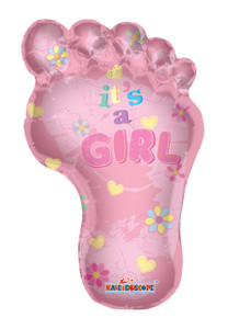 "28"" Baby Girl Foot Shape 1 ct #19166"