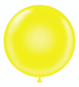 round yellow balloon