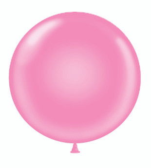 big round pink balloon