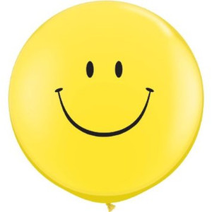 "36"" Yellow Smile Face Latex Balloon 1ct #36808"
