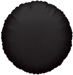"4"" Black Circle Foil Balloon Air Fill Only (5 Pack) #34070"
