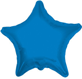 "4"" Blue Star Foil Air Fill Only Balloon (5 PACK) #34016-04"