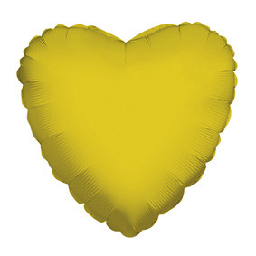 "4"" Gold Heart Foil Balloon Air Fill Only (5 PACK) #34108-04"