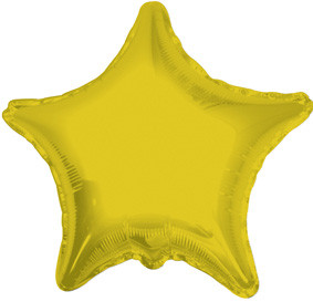 "4"" Gold Star Foil Air Fill Only Balloon (5 PACK) #34014-04"