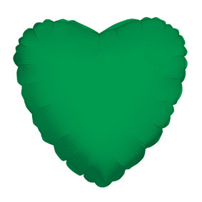 "4"" Green Hearts Foil Balloon Air Fill Only (5 PACK) #34113-04"