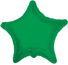 "4"" Green Star Foil Air Fill Only Balloon (5 PACK) #34021-04"