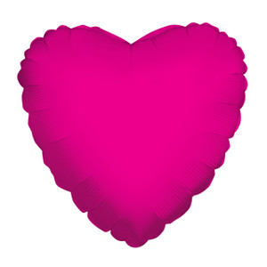 "4"" Hot Pink Foil Balloon Heart Air Fill Only (5 PACK) #34105-04"