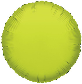 "4"" Lime Circle Foil Balloon Air Fill Only (5 Pack) #34053"