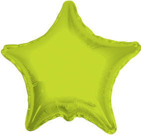 "4"" Lime Star Foil Air Fill Only Balloon (5 PACK) #34022-04"