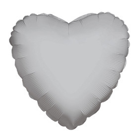 "4"" Silver Hearts Foil Balloon Air Fill Only (5 PACK) #34109-04"