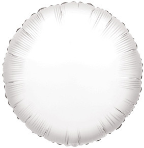 "4"" White Circle Foil Balloon Air Fill Only (5 Pack) #34069"