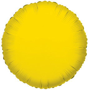 "4"" Yellow Circle Foil Balloon Air Fill Only (5 Pack) #34049"