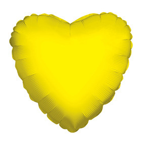 "4"" Yellow Heart Foil Balloon Air Fill Only (5 PACK) #34099-04"