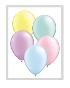 "11"" Qualatex Pastel Pearl Assortment Latex Balloons 100ct #43755"