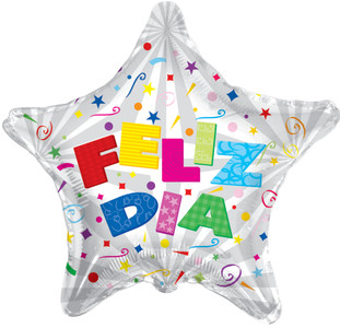 "4"" Feliz Dia Air Fill Balloon 1ct #34168-04"