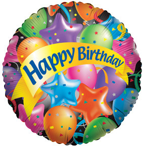 "4"" Happy Birthday Festive Air Fill 1ct #17402-04"