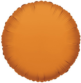 "4"" Orange Circle Foil Balloon Air Fill Only 1ct #34056"