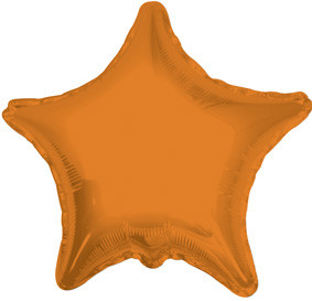 "4"" Orange Star Foil Air Fill Only Balloon (5 PACK) #34026-04"