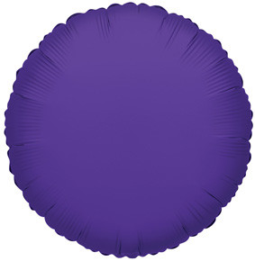 "4"" Purple Circle Foil Balloon Air Fill Only (5 Pack)#34054"