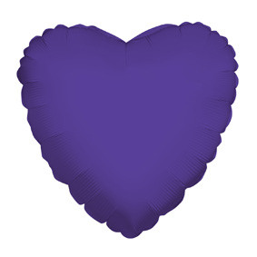 "4"" Purple Hearts Foil Balloon Air Fill Only (5 PACK) #34106-04"