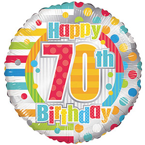 "18"" 70th Birthday Balloons (5 Pack)"
