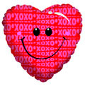 "18"" Smile Heart Helium Foil Balloon (5 PACK) #20087"