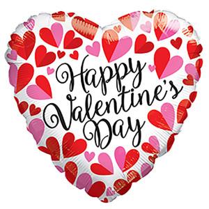 "9"" Mini Balloon Valentine Divided Hearts Air Fill (5 PACK) #81206-09"