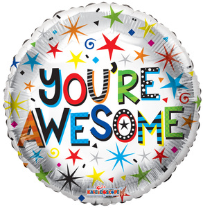 "18"" You're Awesome Helium Foil Balloon  (5 PACK)  #15836"