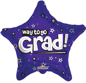 "18"" Way to go Grad Purple Stars 1ct #85104"