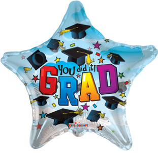 graduation balloons you did it grad