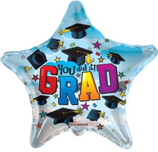 graduation balloons you did it grad