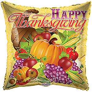 "18"" Thanksgiving Balloons Harvest Feast 1ct"