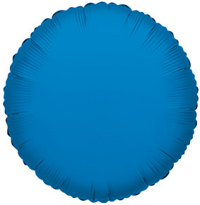 "9"" Mini Blue Circle Foil Balloon Air Fill Only 5 Pack #34080"
