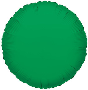 "9"" Mini Green Circles Foil Balloon Air Fill Air Fill Only 5 Pack #34052"
