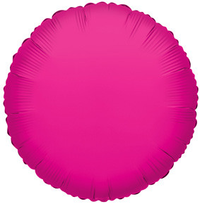 "9"" Mini Hot Pink Circle Foil Balloon Air Fill Only 5 pack #34075"