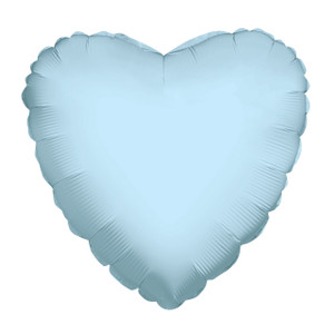 "9"" Mini Light Blue Heart Foil Balloon Air Fill Only 1ct #34100-09"