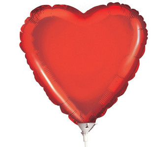 "9"" Mini Red Heart Foil Balloon Air Fill Only (5 PACK)  #34110-09"