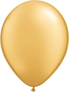 "9"" Qualatex Gold Latex Balloons 100BAG #43686-9"