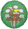 """Close Out 9"""" Birthday Golf Clubs Mini Air Fill Balloons (5 PACK) #17344"""