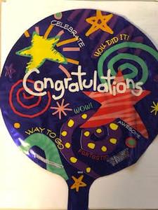 "9"" Congratulations 1ct 17098-09"