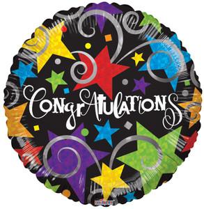 "9"" Congratulations Black 15027-09 (10 Pack)"