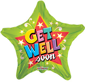 "9"" Get Well Green Star 1ct"