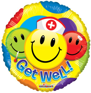 "9"" Get Well Smileys Air Fill (5 PACK)#19720"