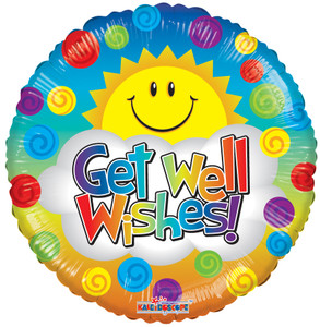 "9"" Get Well Sunshine Foil Balloons (5 PACK) #19715-09"